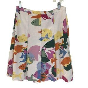 Moschino Aquatic Print Fit & Flare Skirt